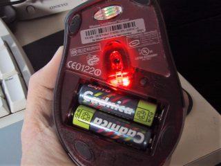 充電池で動作