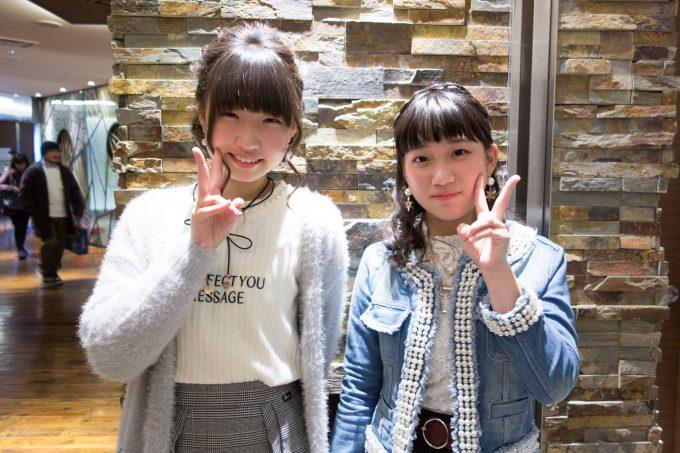 富金原佑菜ちゃんと丸山純奈ちゃん。
